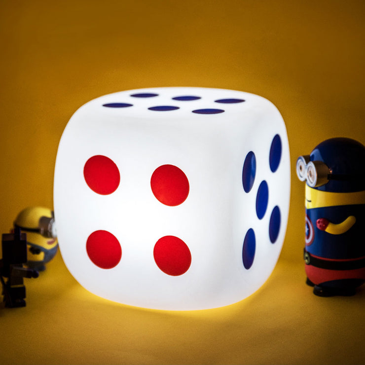 8-inch Multi-Color Led Lamp, Dice Cube Shaped