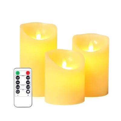 Moving Wick Electric Timing LED Candle Sets