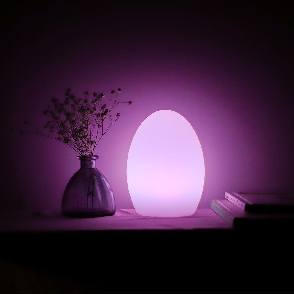 loftek egg mood light for table decor event tablesetting night light