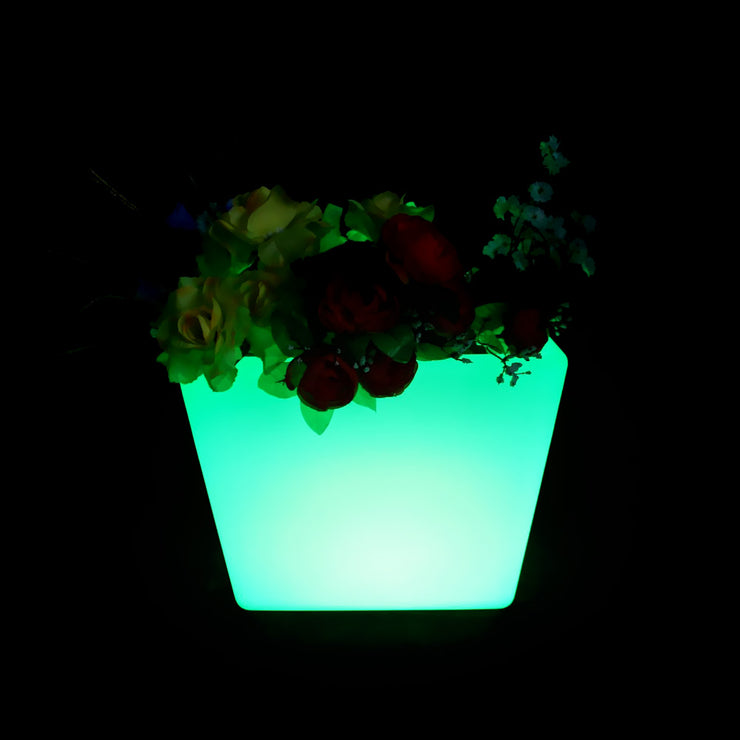 Cordless RGB glowing furniture flower pot planter