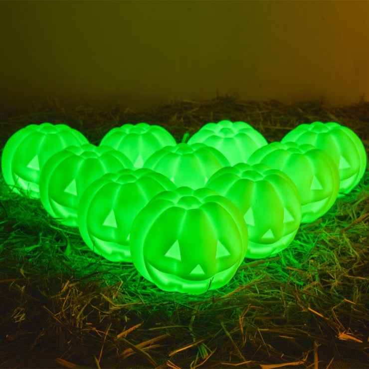 loftek 10-pack rgb led pumpkin light