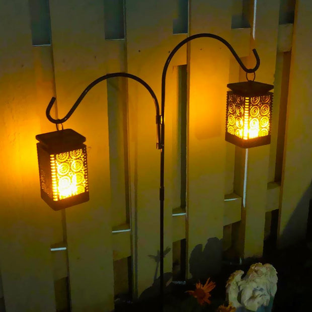 led solar lantern for halloween outdoor decor