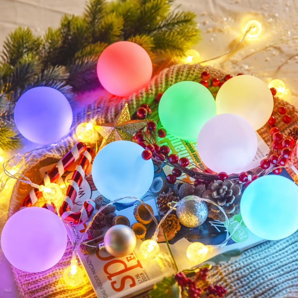 loftek led rgb ball light for christmas decor
