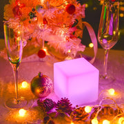 loftek cube light party table centerpiece
