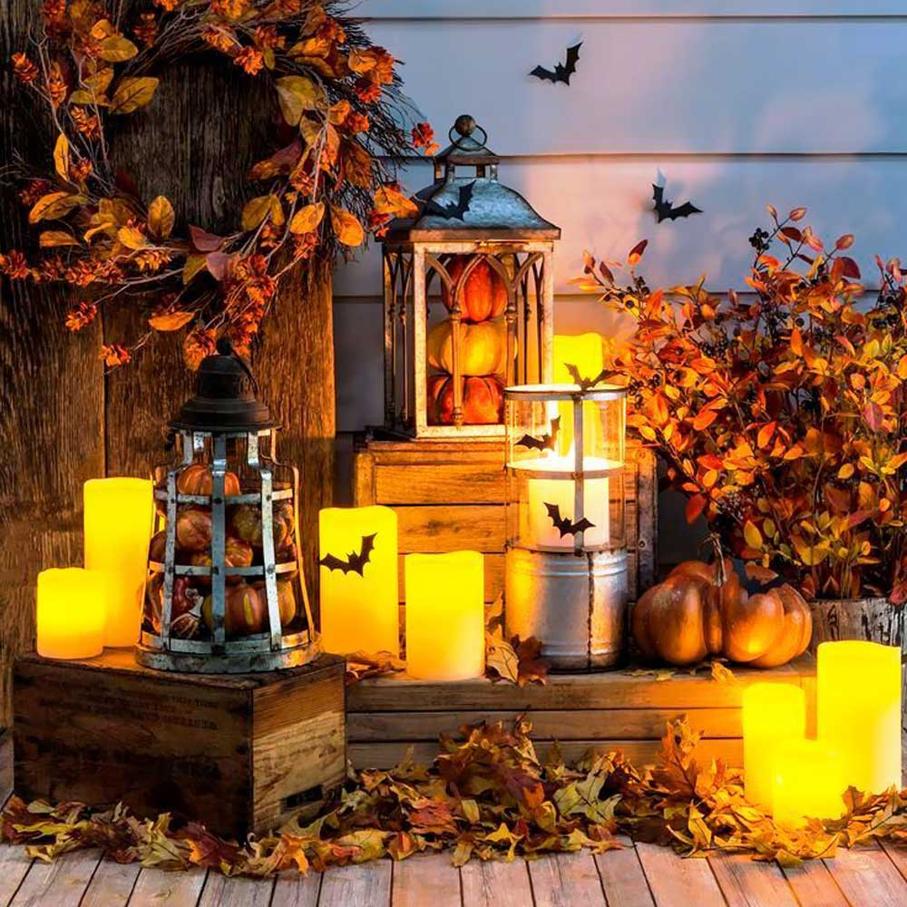 loftek led candle light set for thanksgiving decor