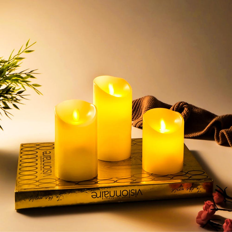 Moving Wick Electric LED Candle Sets