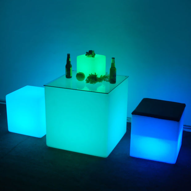 loftek led cube light 12-inch seat furniture