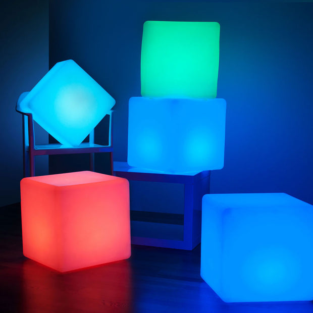 RGB LED Cube Light seat for party event