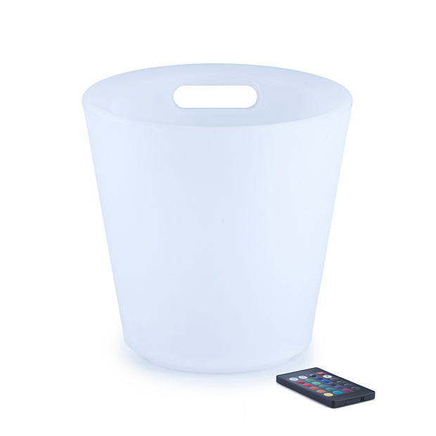 LED Ice Cooler Bucket with Easy-to-carry Handles for Parties and Events