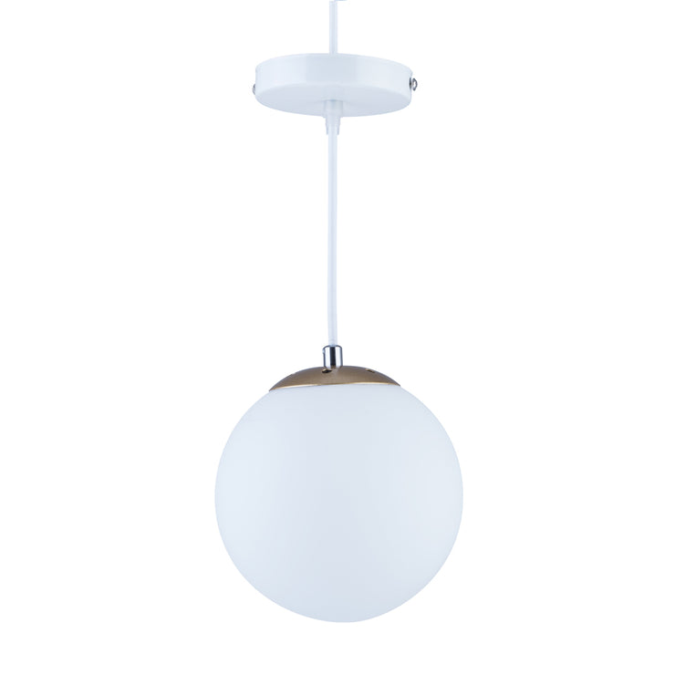 Modern White Glass Globe Pendant Lighting