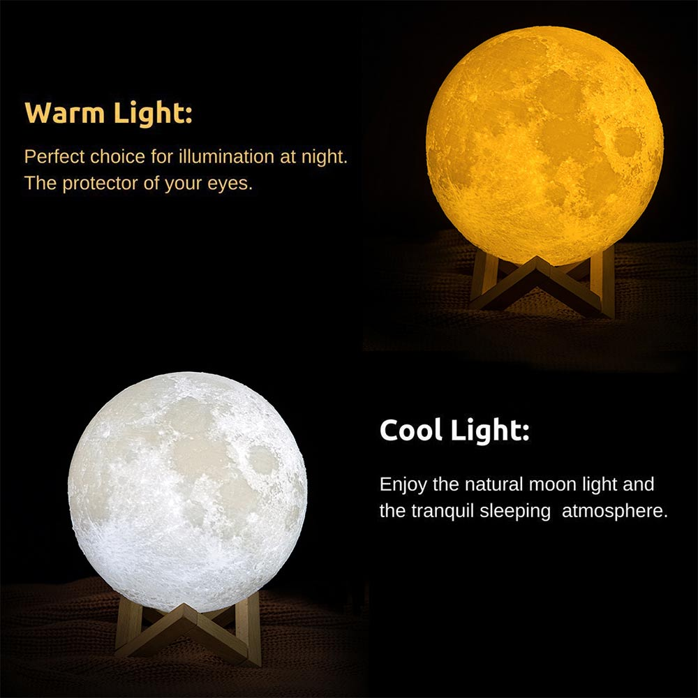 loftek 3D Printing Moon Lamp for restaurant home table setting