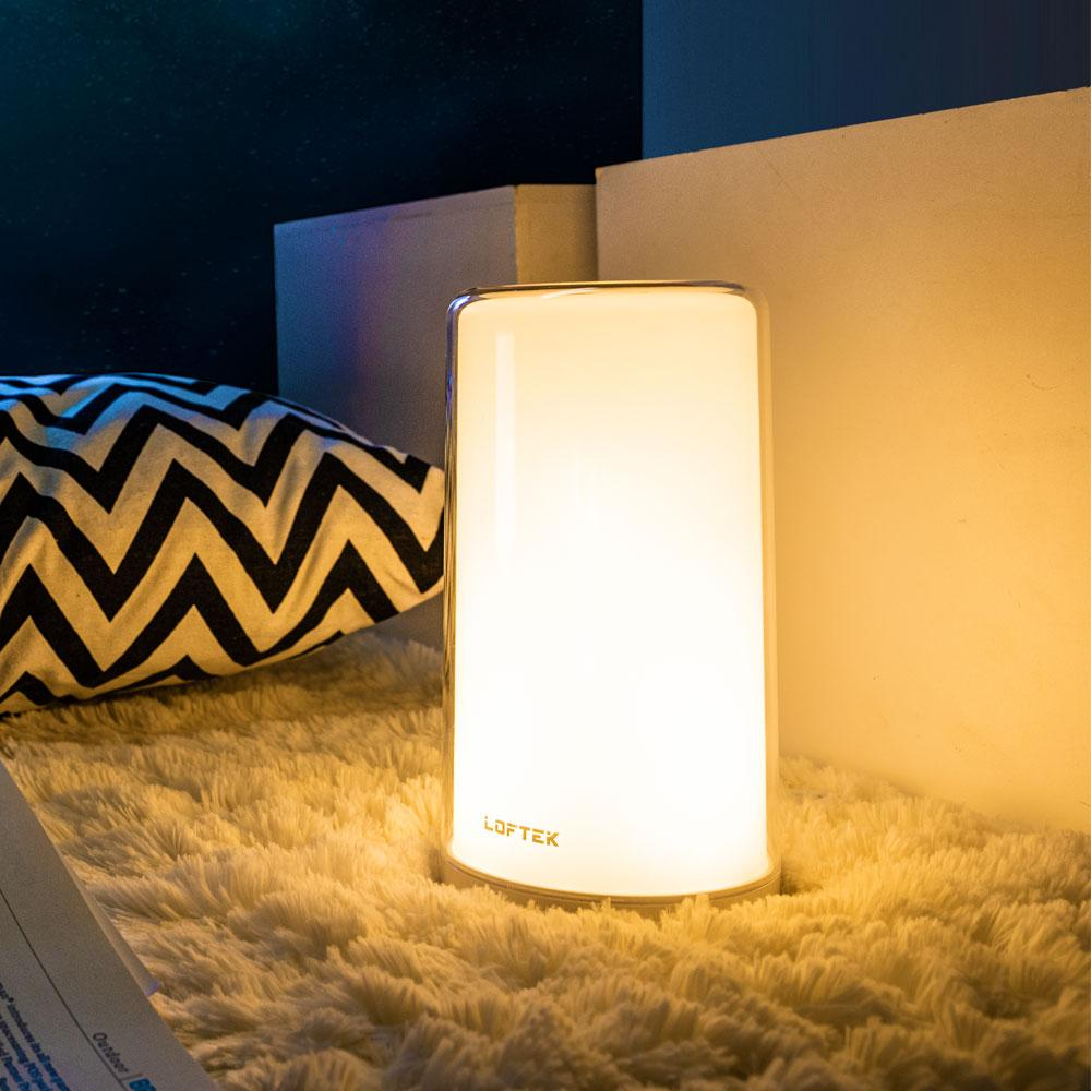 loftek led rgb bedside table night lamp