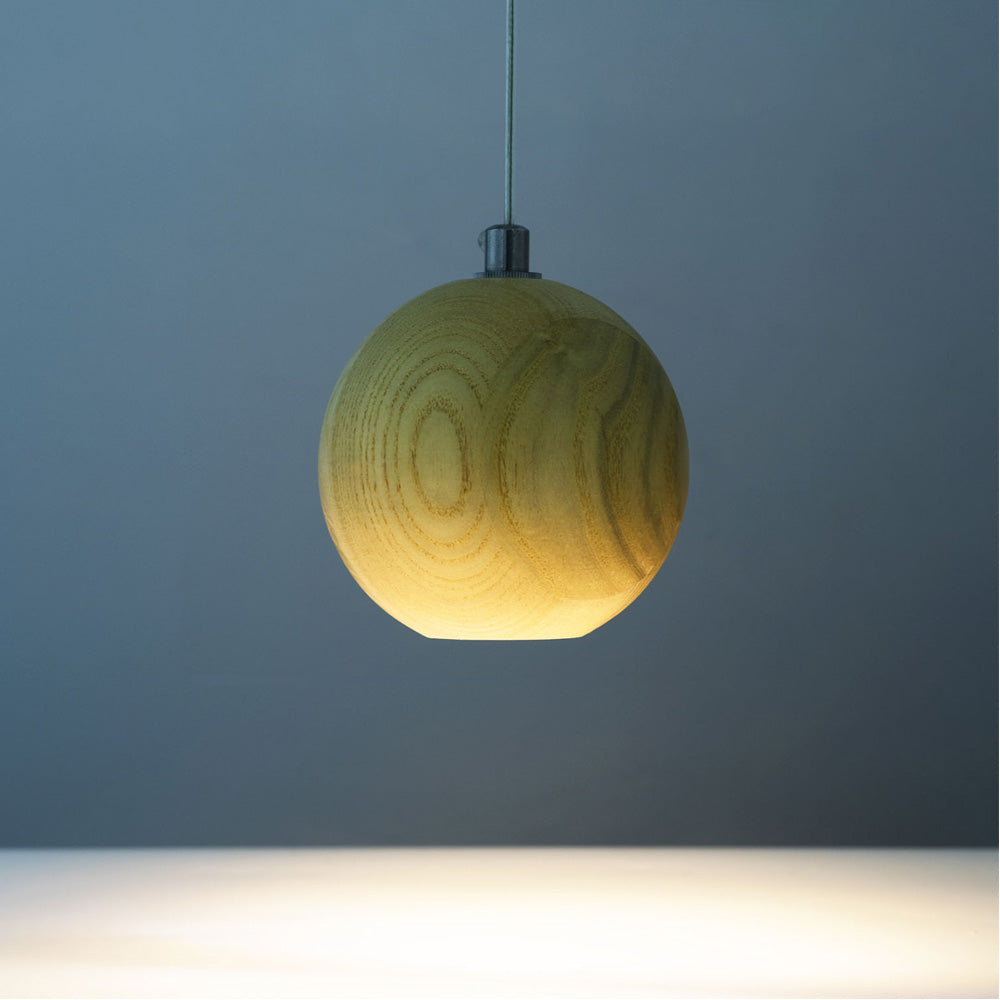 Modern Wooden Globe Pendant Lighting
