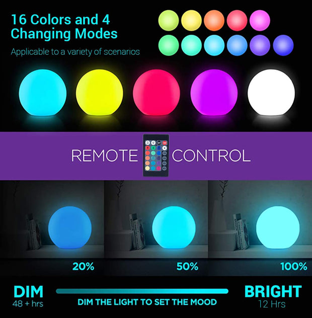 24-inch LED Ball Light remote control color changing