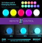 8-inch LED Hanging Ball Light color changing
