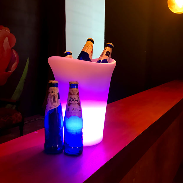 LED Ice Cooler Bucket for Champagne, Red Wine, Drinks, Beer