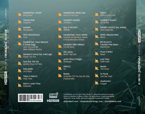 Hardwell Presents Revealed Vol. 10 Cd