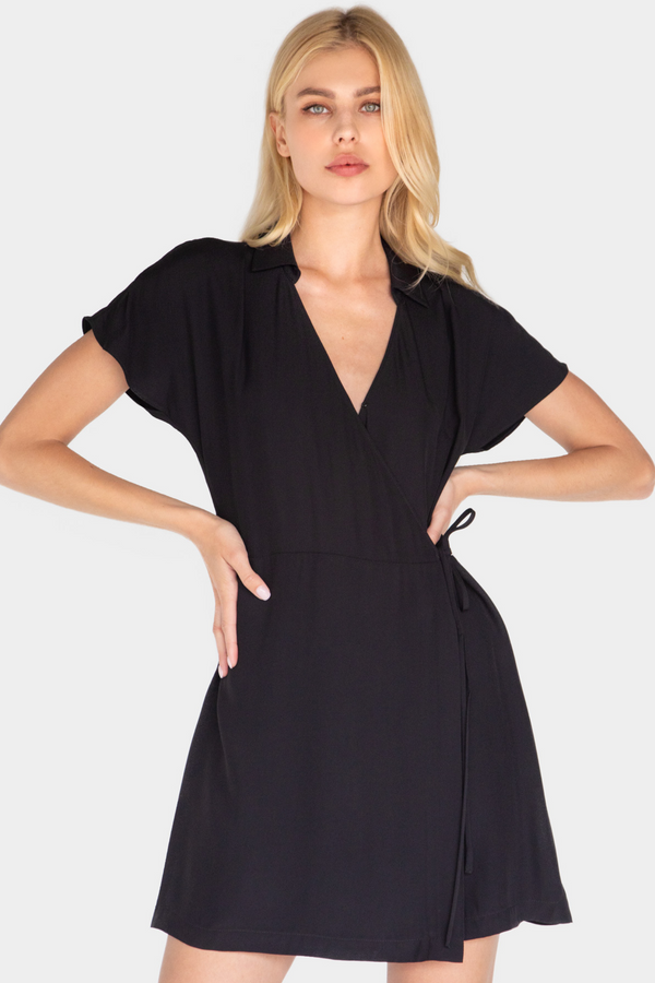 MARACUYA MINI WRAP DRESS - LOST APRIL