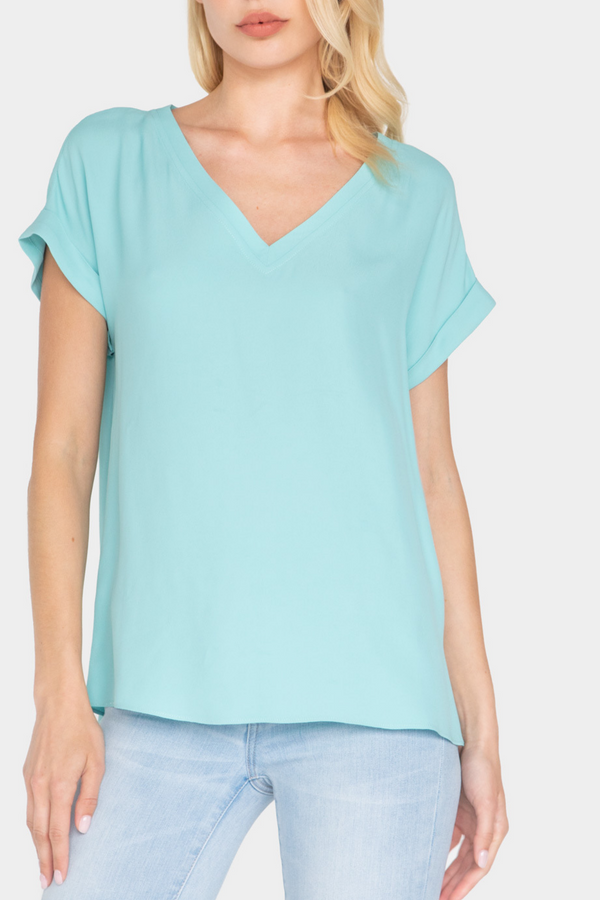 ESTELLA DROP SHOULDER BLOUSE