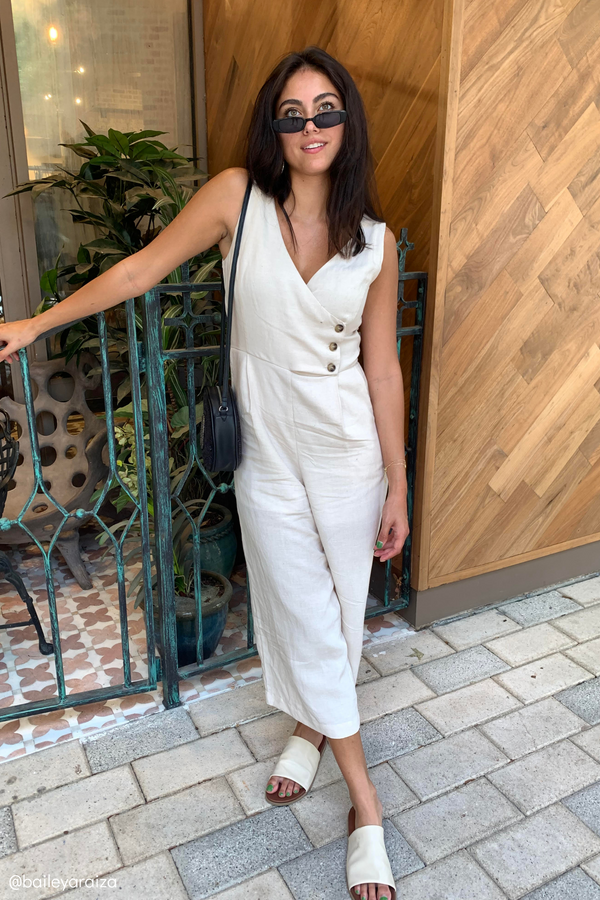 EMMALEE LINEN JUMPSUIT - LOST APRIL