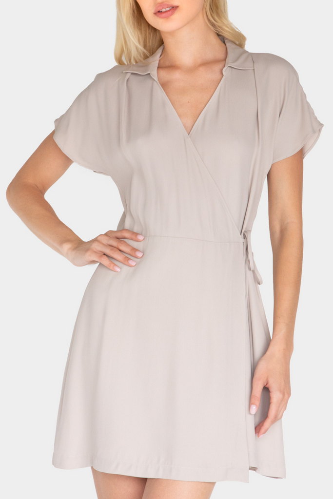 MARACUYA MINI WRAP DRESS