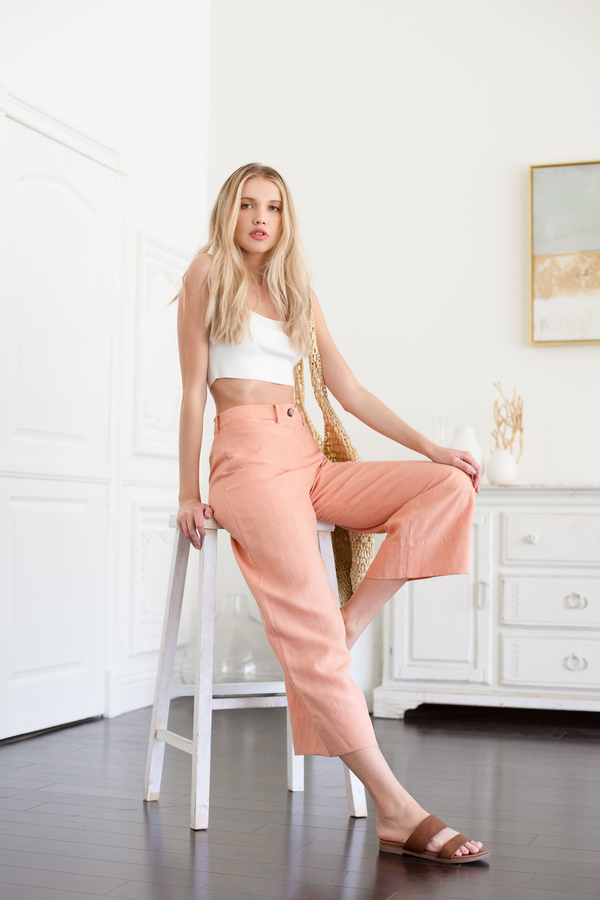 LANDRY LINEN PANTS - LOST APRIL
