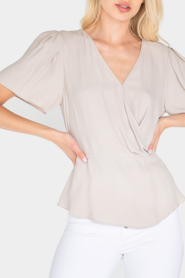 BROOKLYN WRAP BLOUSE