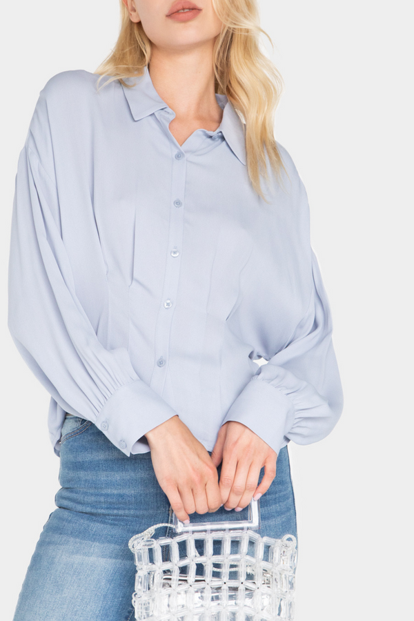 JAZZIE CINCHED WAIST SHIRT - LOST APRIL