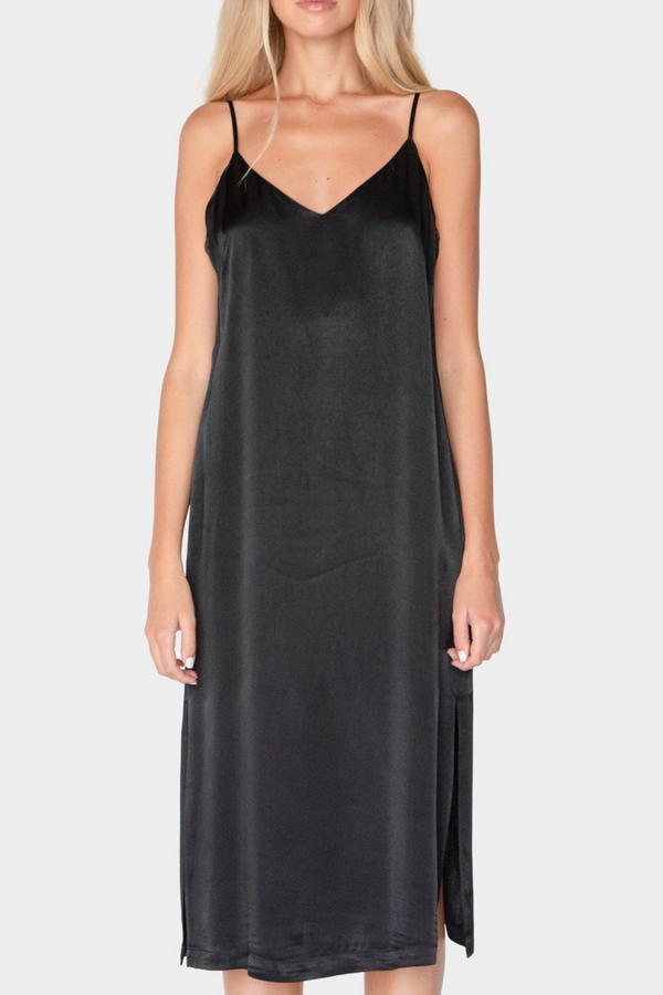 BEATRICE SATIN SLIP DRESS - LOST APRIL