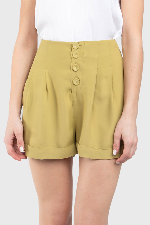 FIA PLEATED ROLL UP SHORTS - LOST APRIL
