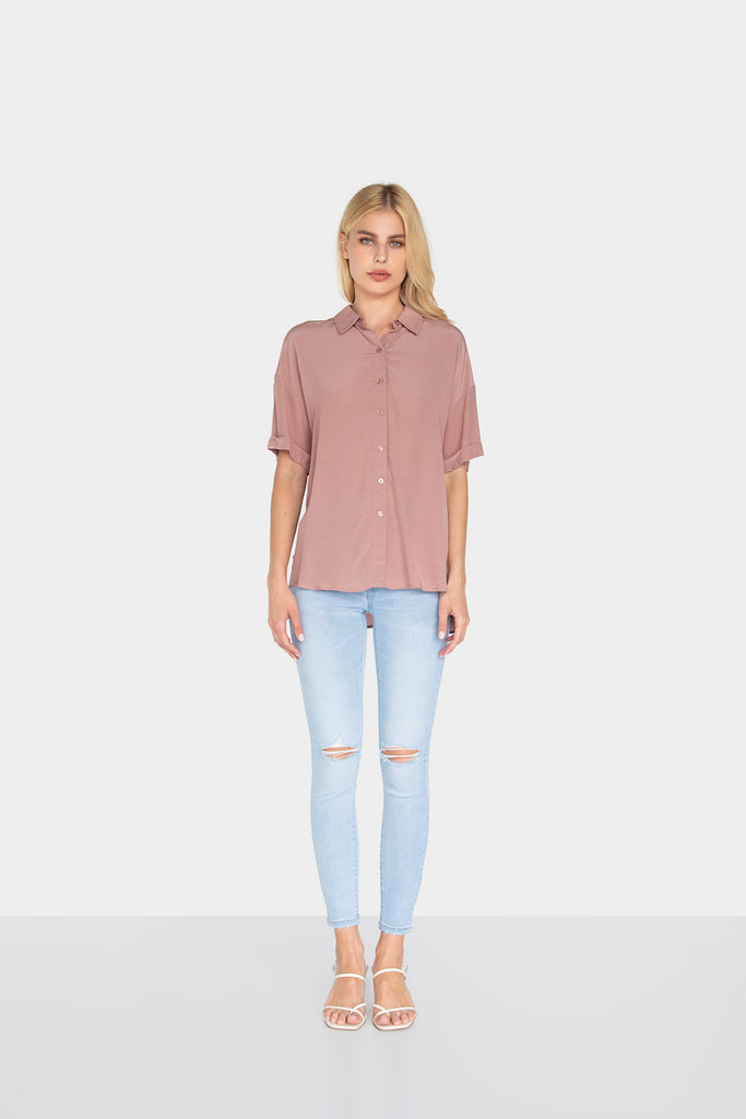 INES LOOSE FIT SHIRT - LOST APRIL