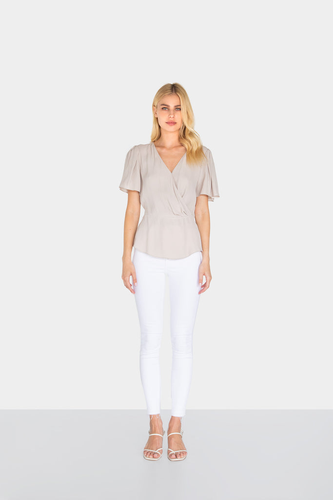 BROOKLYN WRAP BLOUSE - LOST APRIL