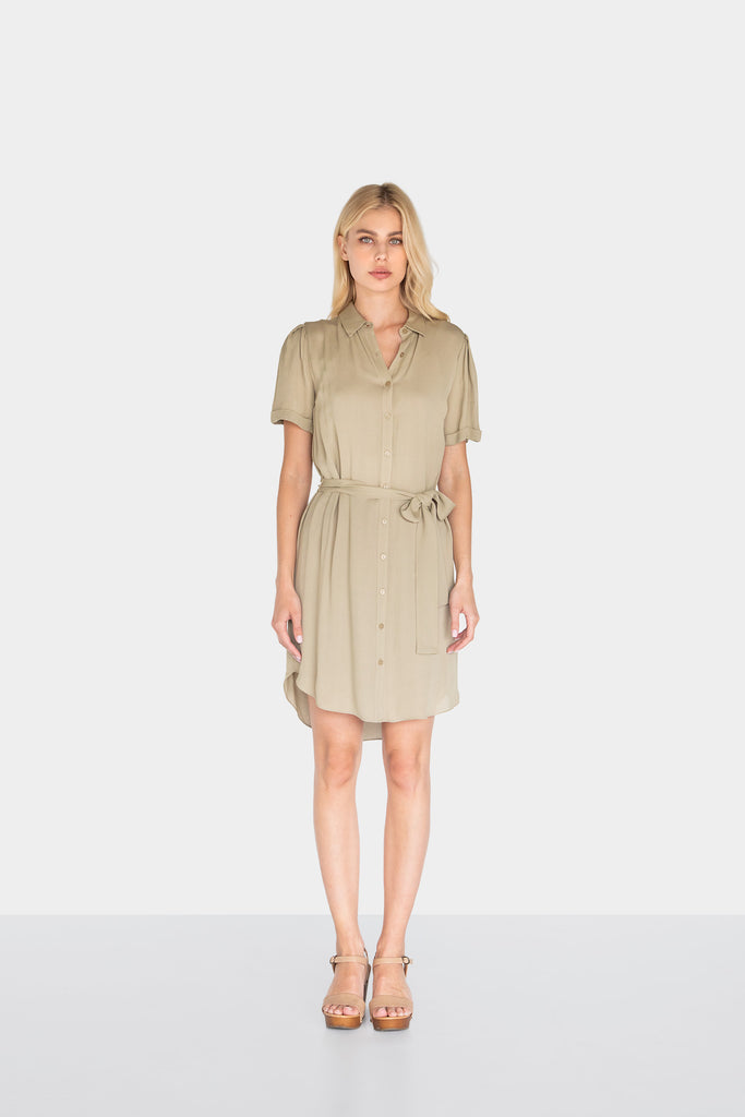 PETRA BUTTON DOWN MIDI DRESS