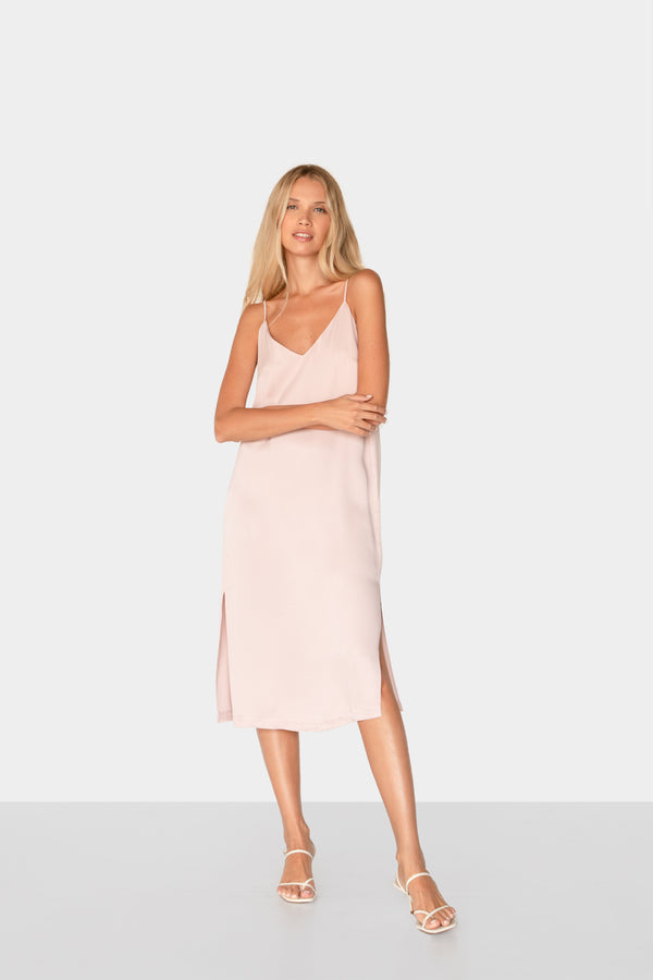 BEATRICE SATIN SLIP DRESS