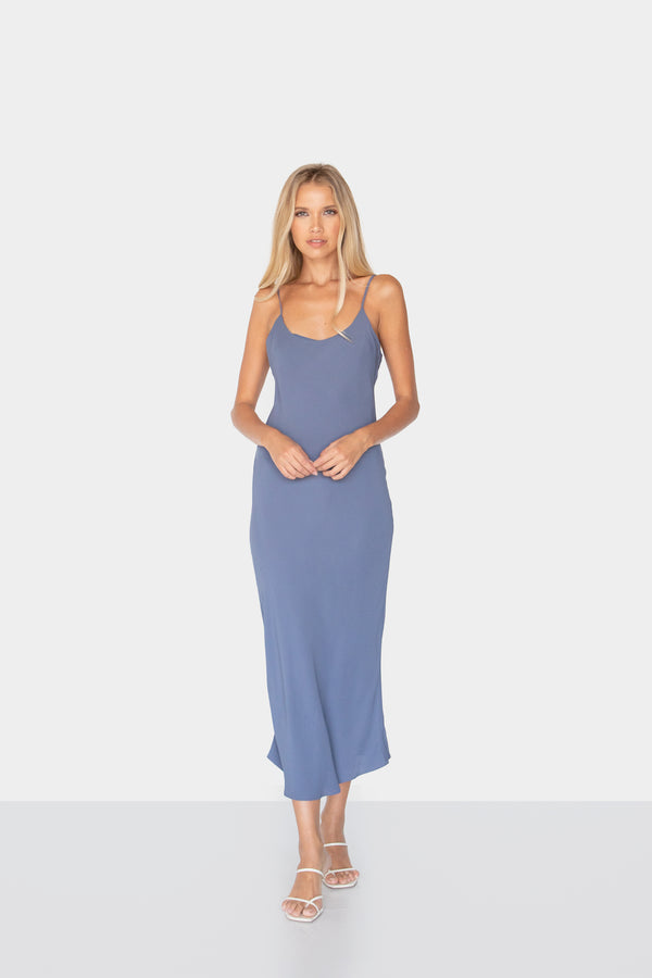 KAREN MAXI SLIP DRESS - LOST APRIL