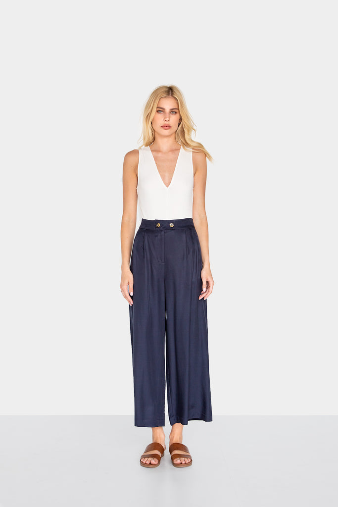 AILEAS PLEATED PANTS - LOST APRIL