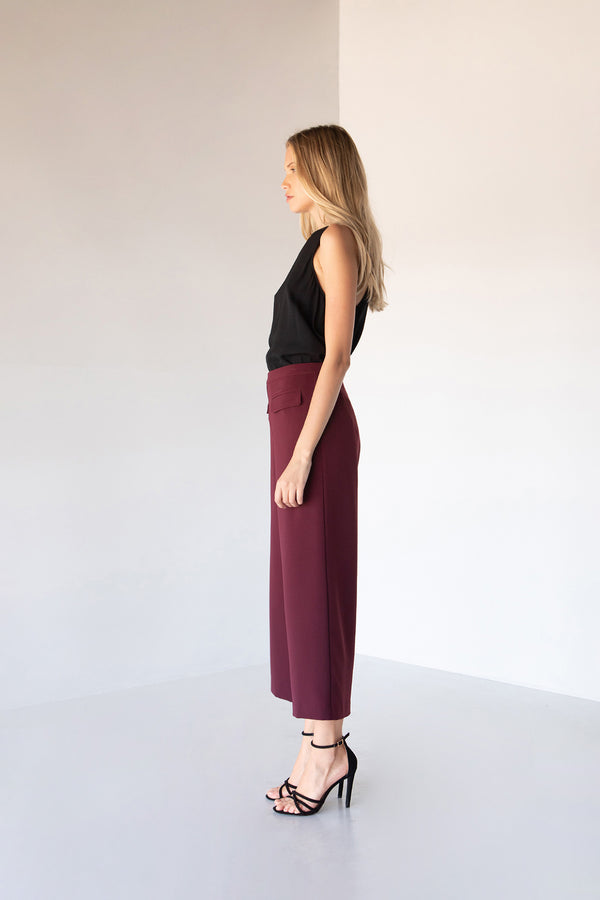 MARLEY WIDE LEG PANTS WINE 02