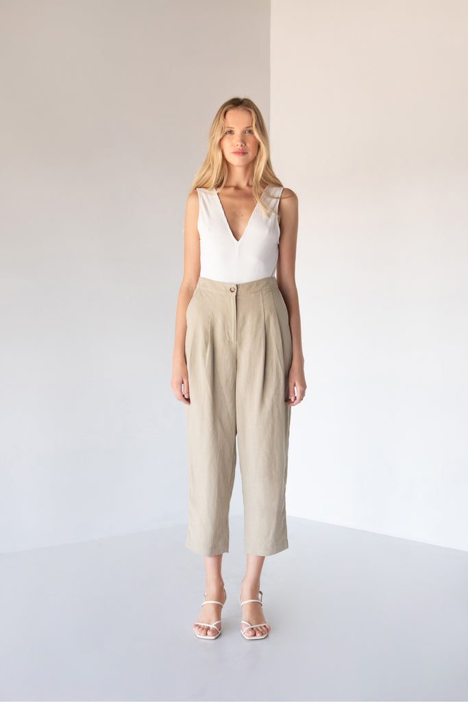 NATASHA CROPPED PANTS - LOST APRIL