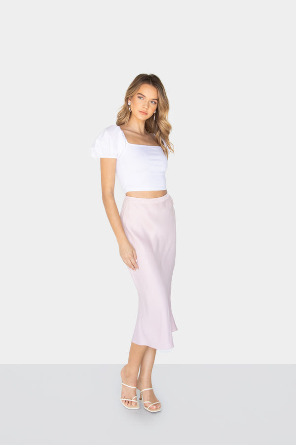 SKY MIDI PENCIL SKIRT ROSEWATER FRONT2
