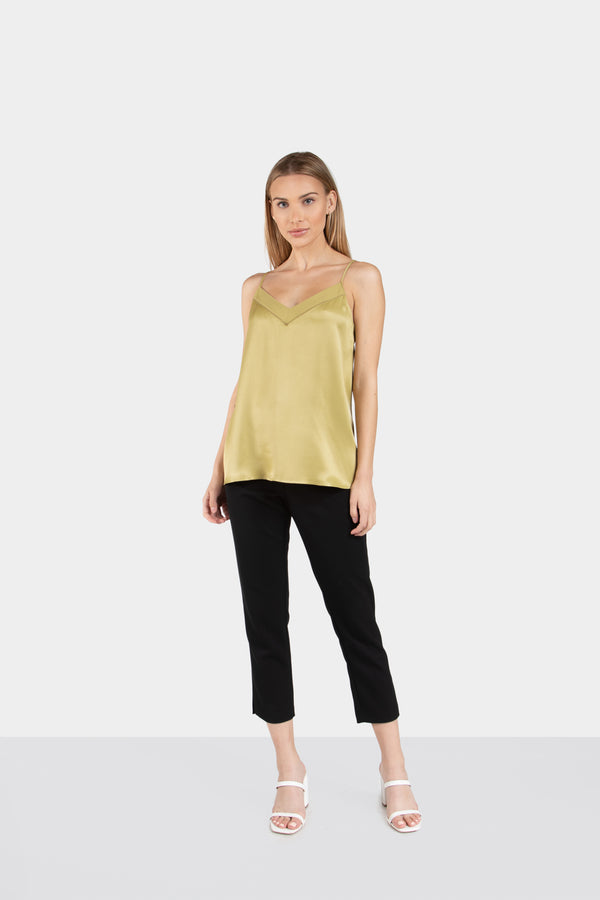MILA V-NECK SILKY CAMI - LOST APRIL