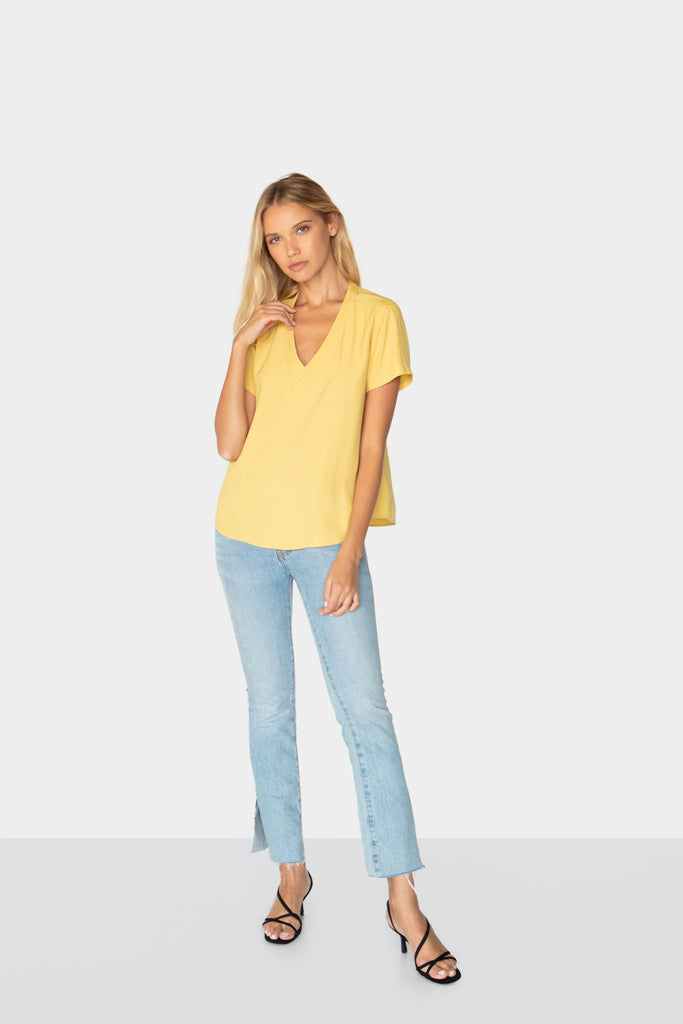 ROMY BLOUSE CUSTARD FRONT2