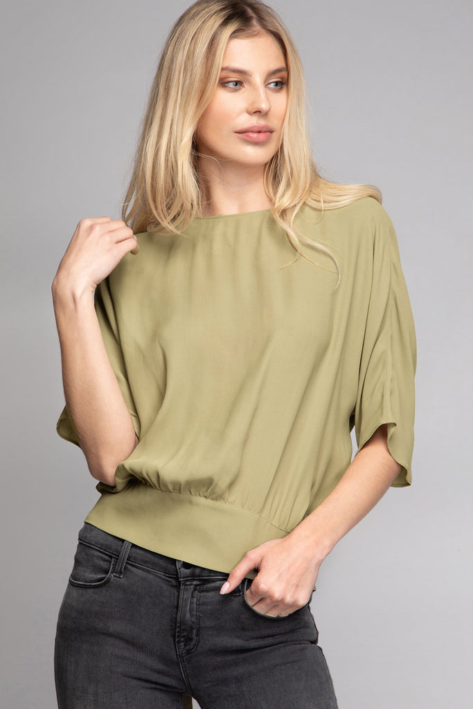JOPPIE BACK TIE DOLMAN BLOUSE - LOST APRIL