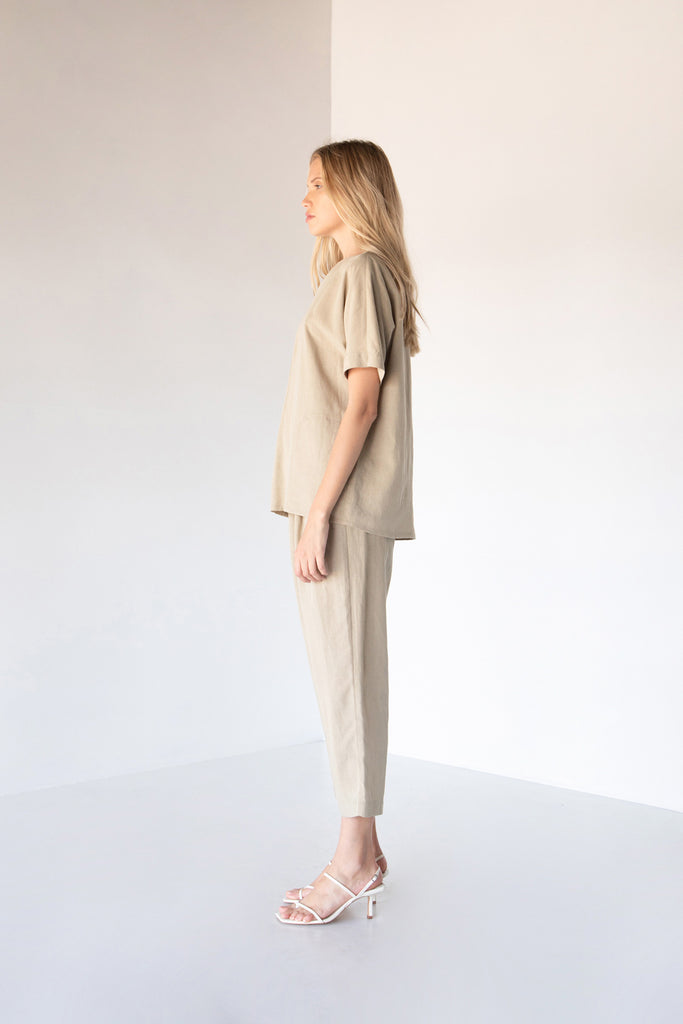 INGRID OVERSIZED POCKET BLOUSE