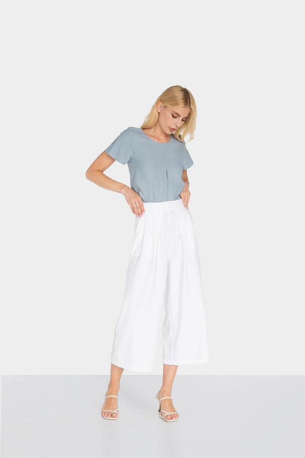 BIJOU WIDE LEG CROP PANTS - LOST APRIL