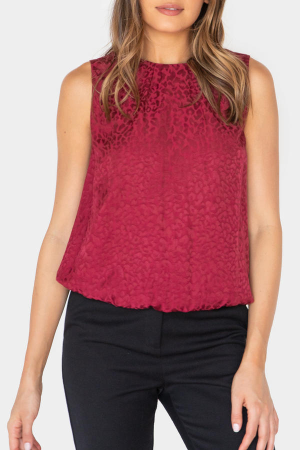 JULIA PRINTED ELASTIC BAND TOP