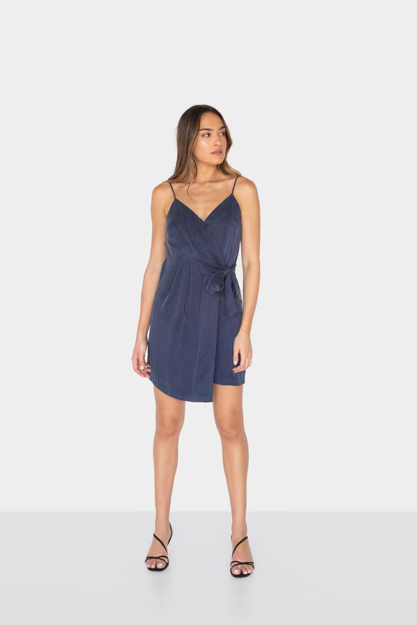 BELLA V-NECK WRAP DRESS - LOST APRIL