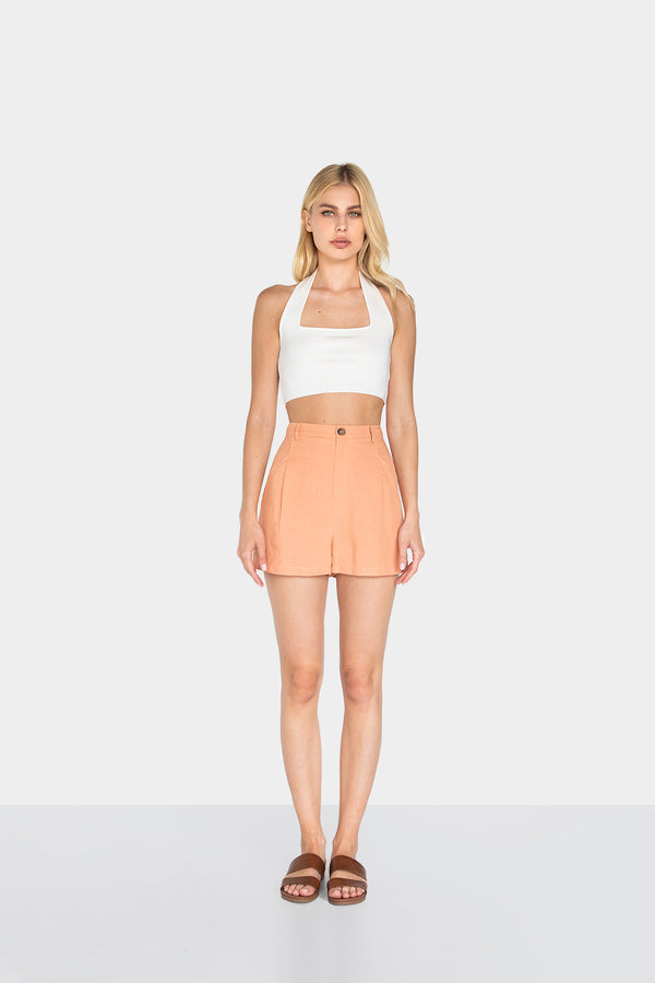 GIGI LINEN SHORTS - LOST APRIL