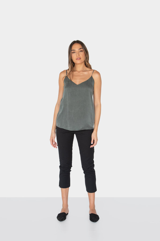ALEXANDRA V-NECK CAMI - LOST APRIL