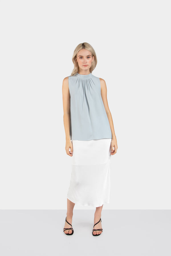 ALEXA MOCK NECK SLEEVELESS TOP - LOST APRIL