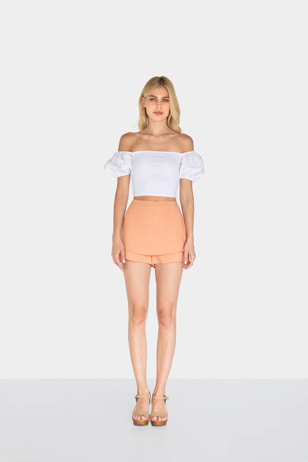 OPHELIA LINEN SKORT - LOST APRIL
